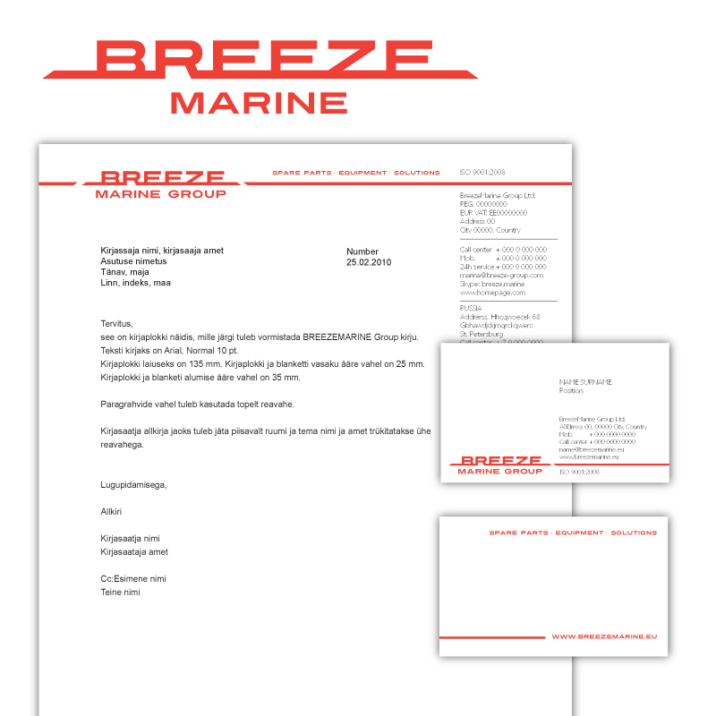 BreezeMarine logo firmastiili kujundus cvi big