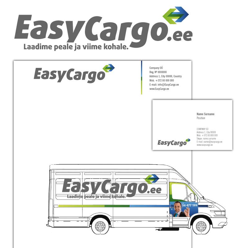 EasyCargo firmastiili logo cvi kujundus big