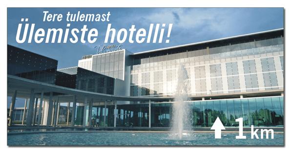 Hotell Ulemiste valisreklaami reklaami kujundus