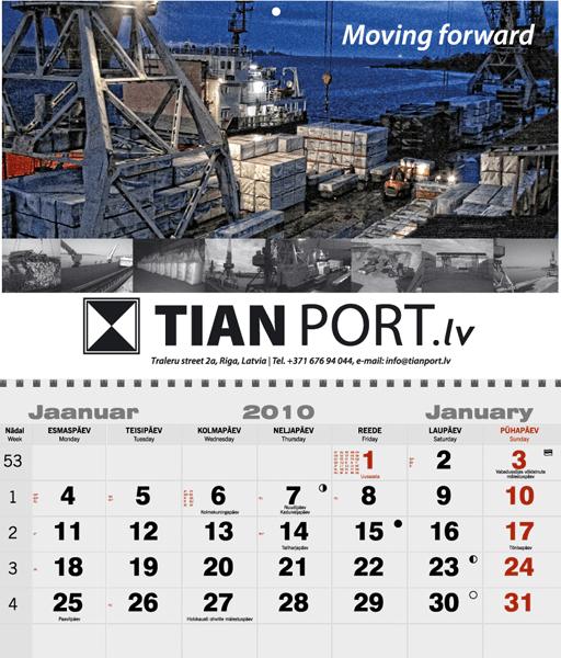 TianPort-kalenderi-kujundus