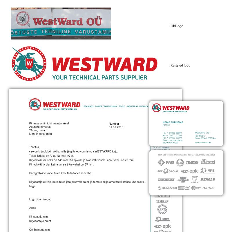 Westward logo firmastiili kujundus cvi big
