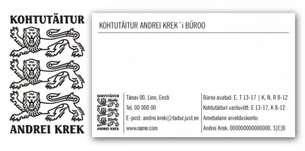 visiikaardi kujundus Andrei Krek big
