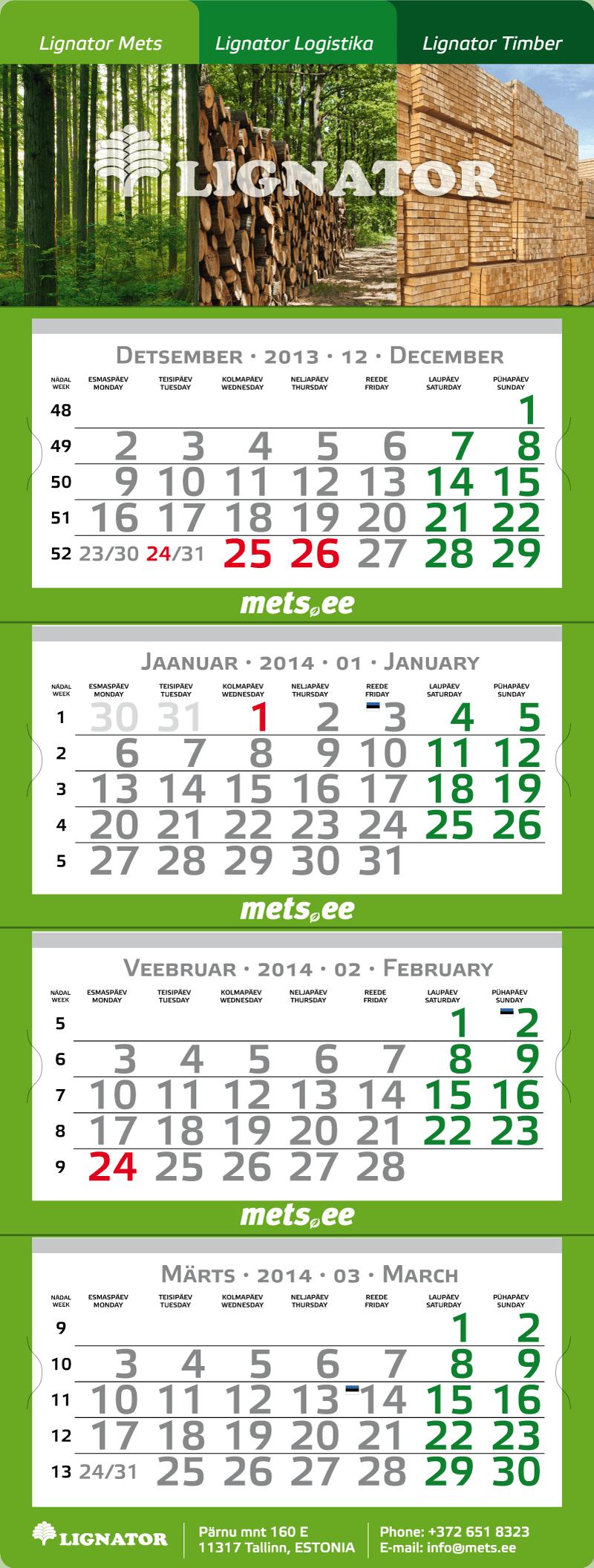 Lignator kalender big