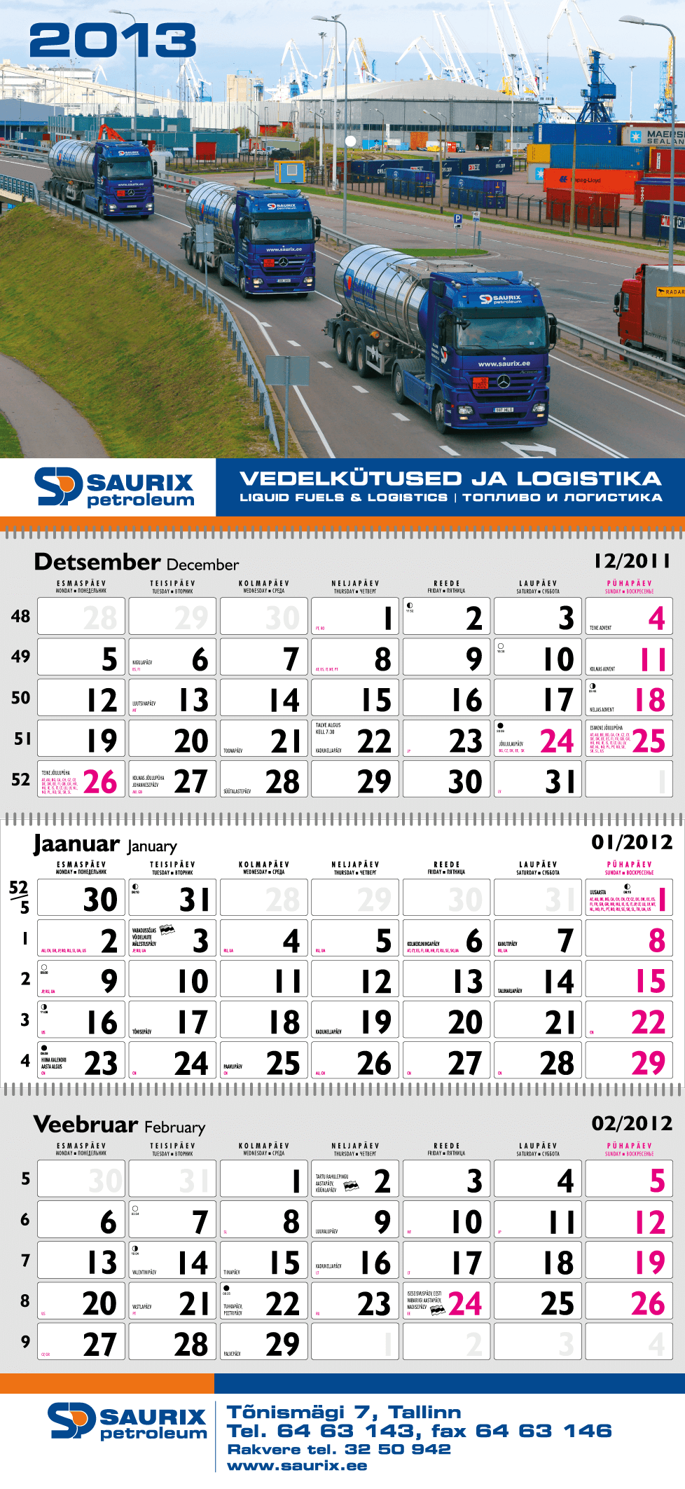Saurix Kalender big 2