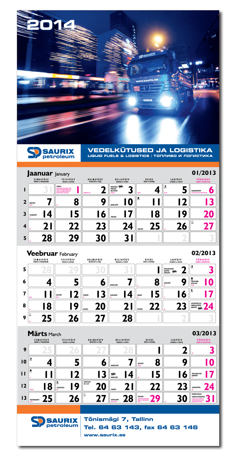 Saurix kalender 2014 big