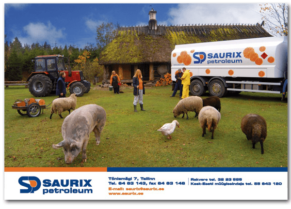 Saurix kalender disain