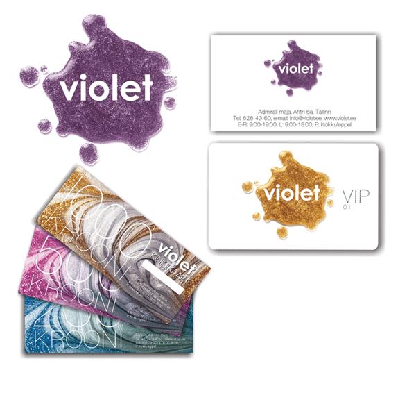 Дизайн и изготовление пластиковых карт для салона VIOLET