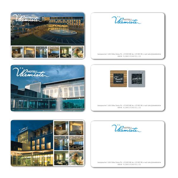 Дизайн платиковых карт для отеля Ülemiste