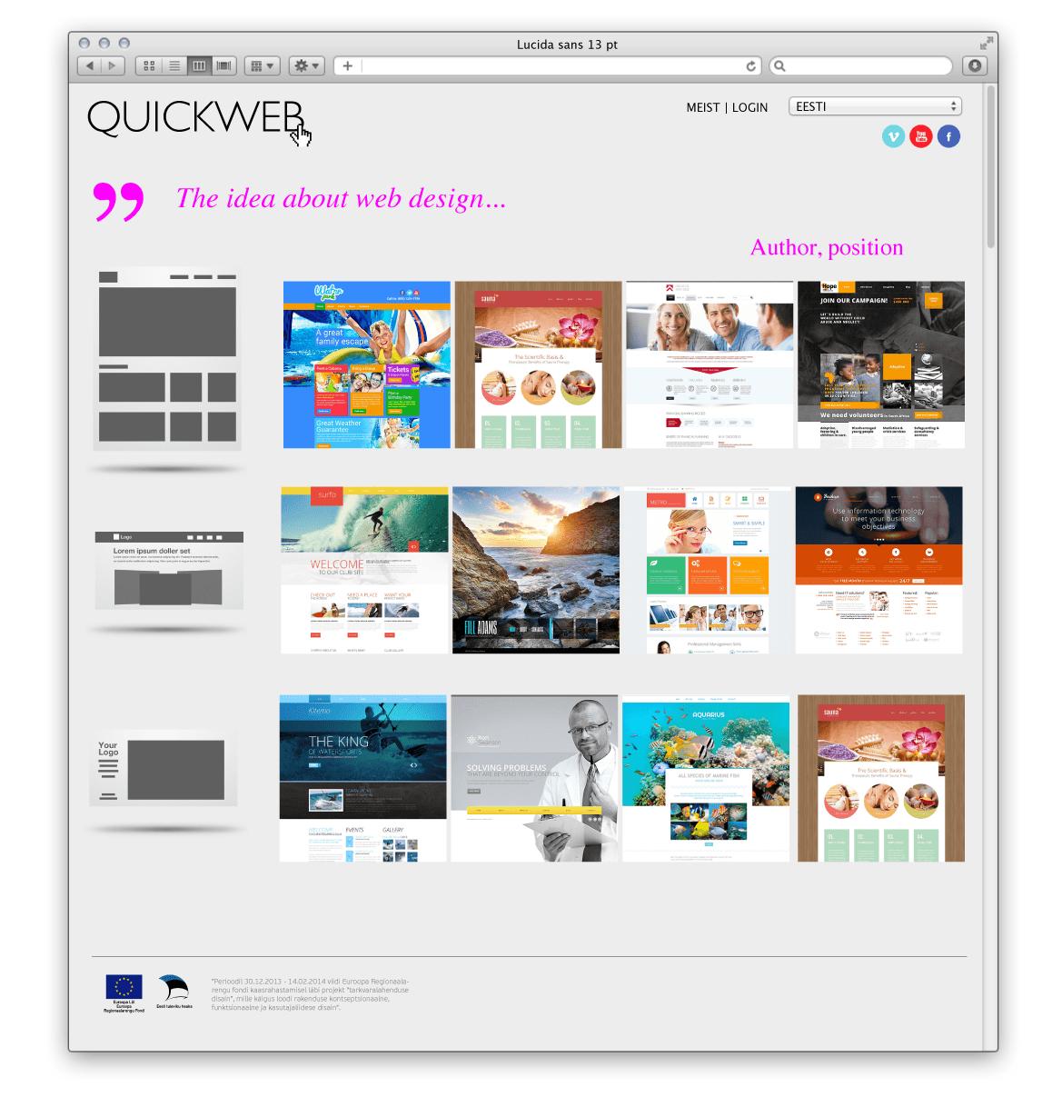 QuickWeb web site 1 2 a