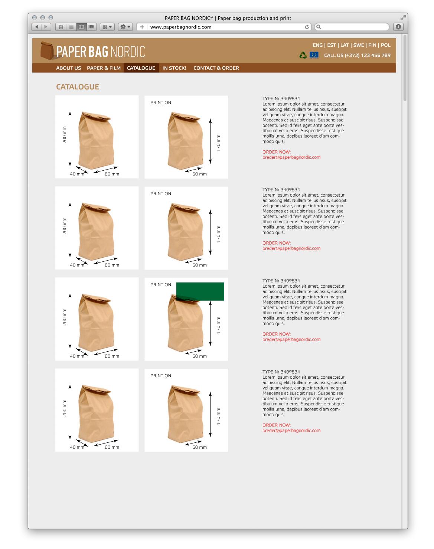 PaperBag web site sketch3