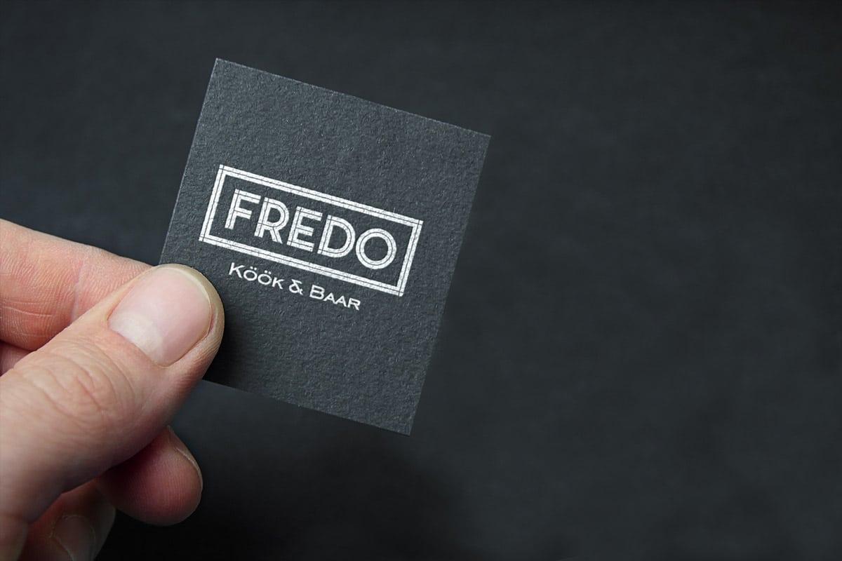 baari fredo logo visiitkaardi kujundus bigA
