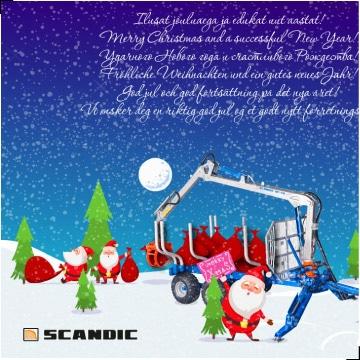 joulukaardi disain kujundus trukk icon scandic