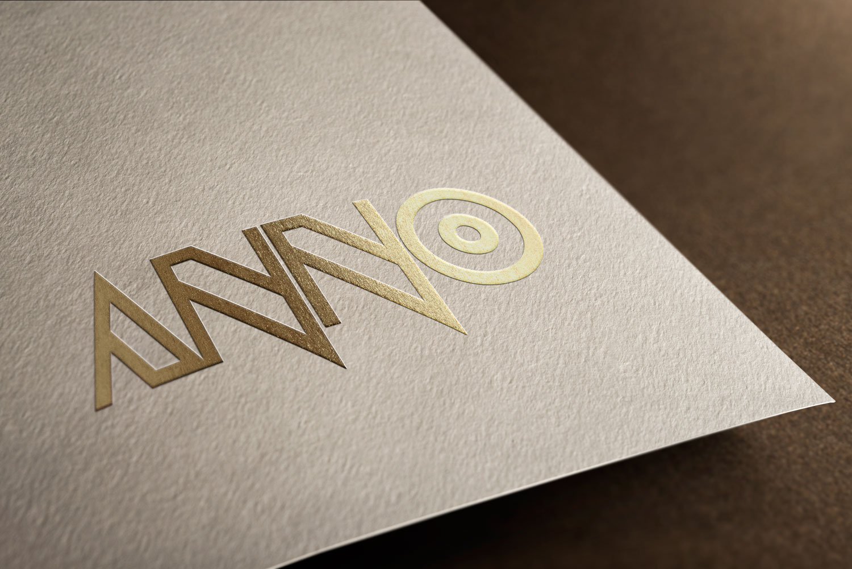 anno gold logo mockup
