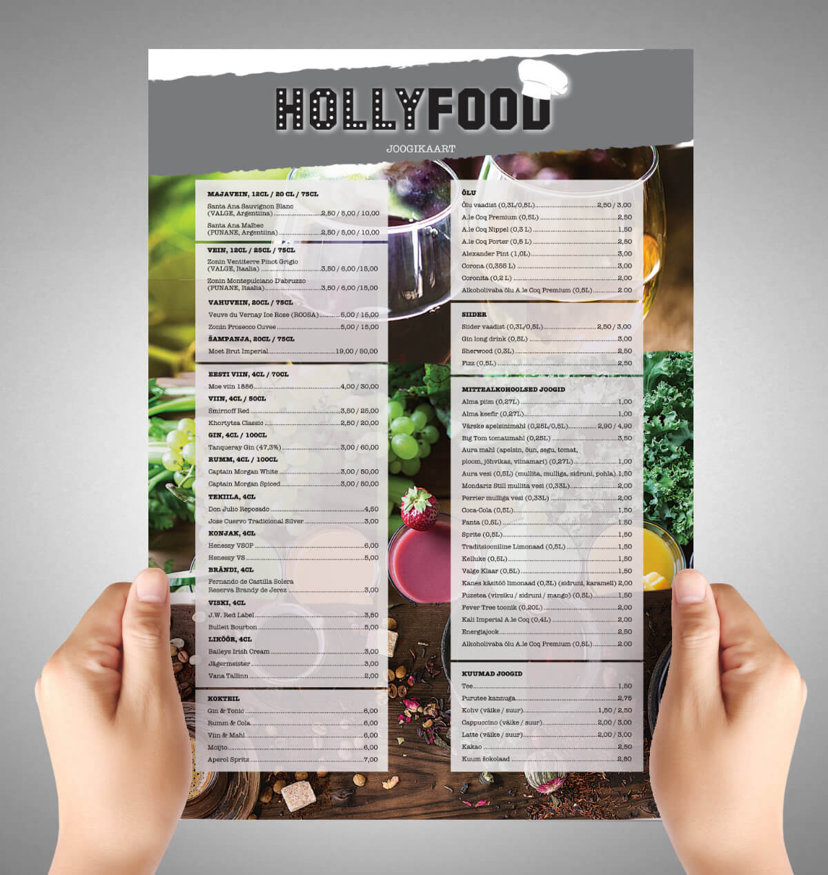 HollyFood menu disain B big