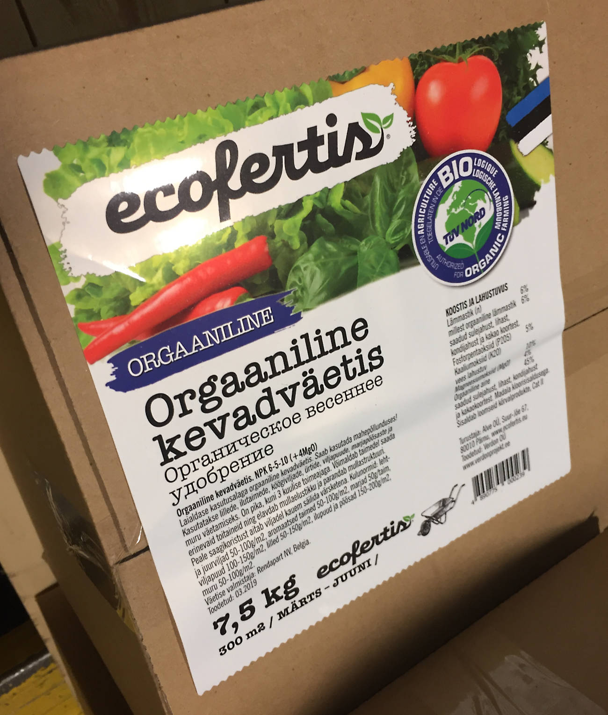 Kleebis Etikettide trükk Ecofertis