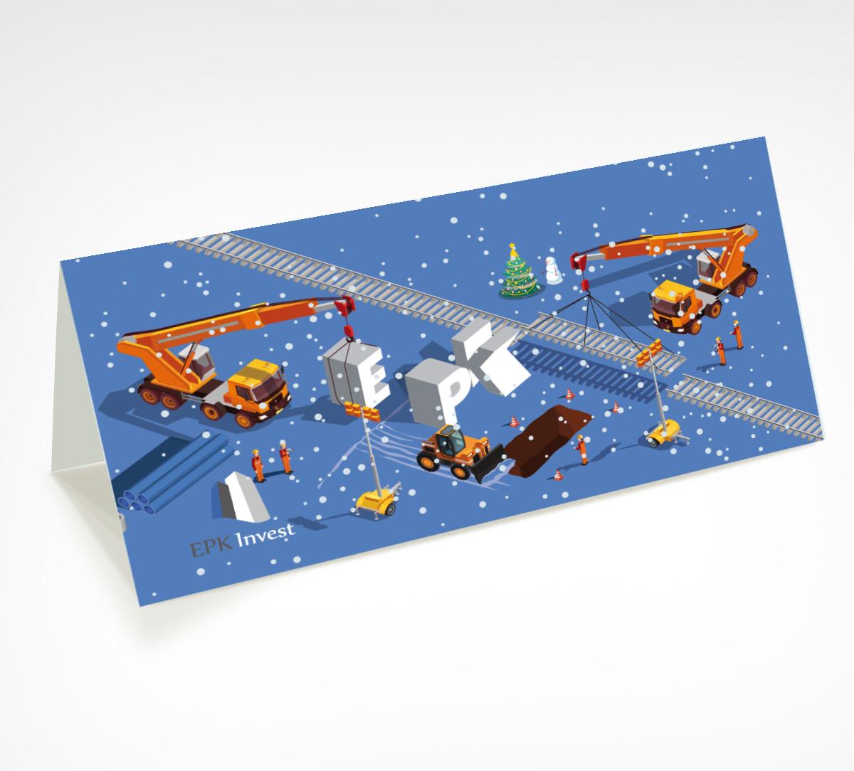 joulukaardi disain kujundamine trükk epkinvest mock big