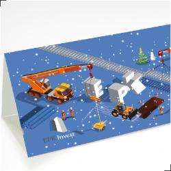 joulukaardi disain kujundamine trükk epkinvest mock small