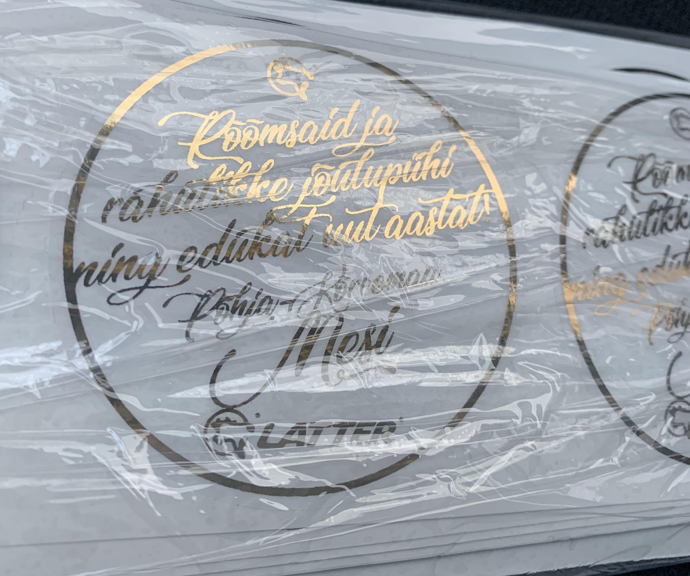 Latter kuldse Folioga etikettide valmistamine