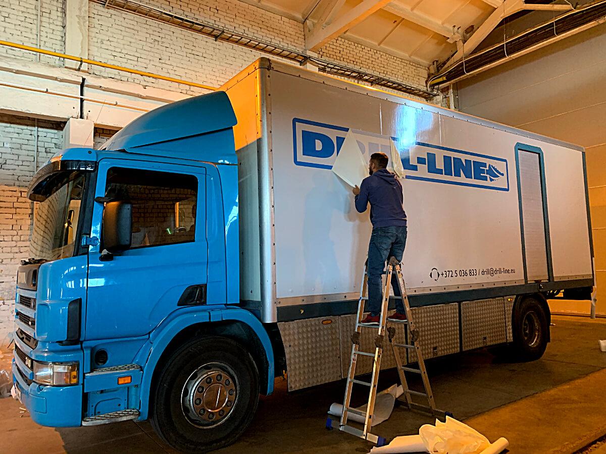 Drill Line veoauto kleebised ulekleepimine 2