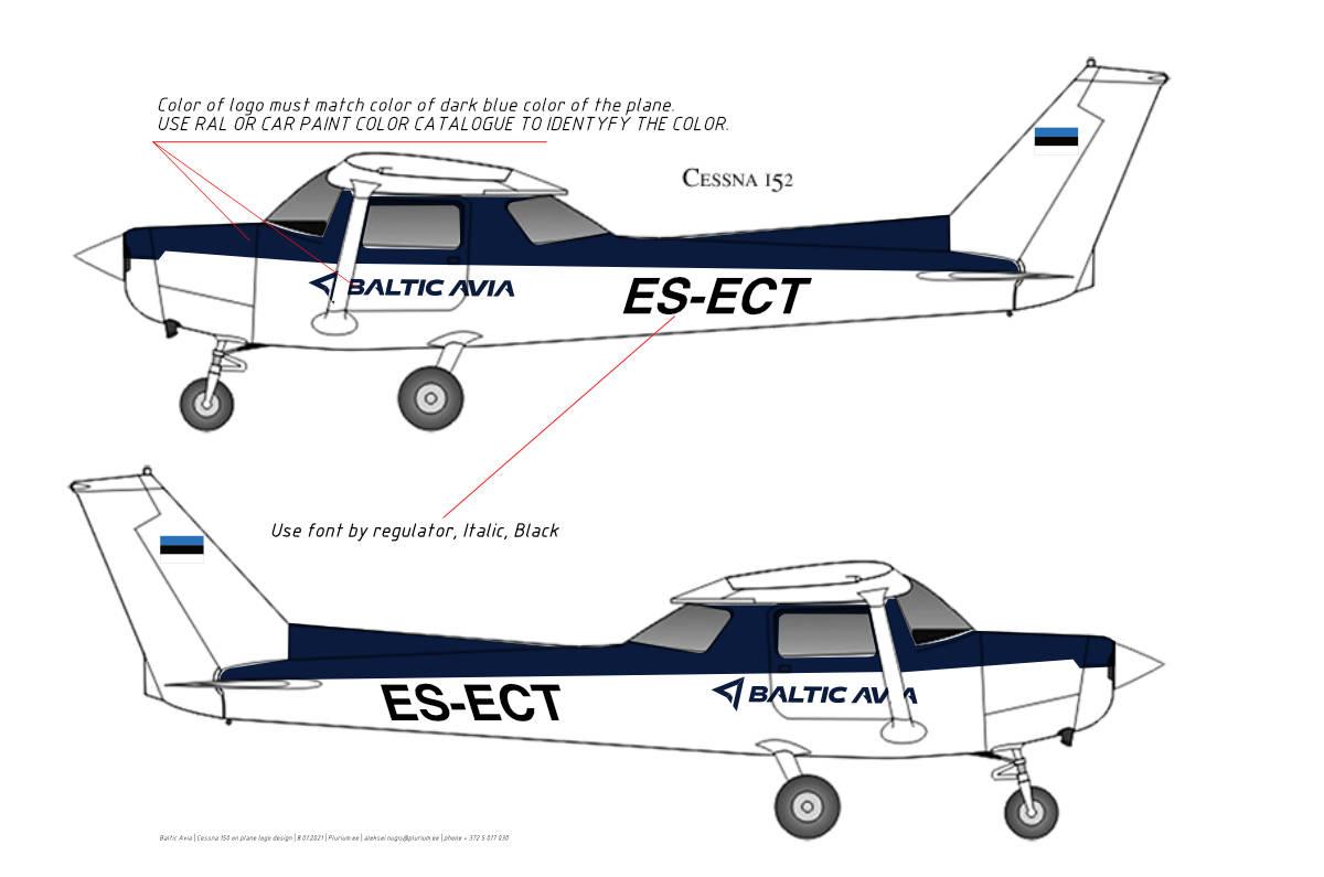 BalticAvia lennuki kleepsude kujundus ja valmistamine
