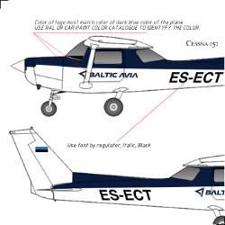 BalticAvia lennuki kleepsude kujundus ja valmistamine small